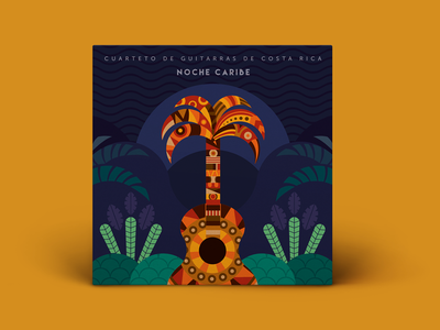 Noche Caribe classical music design album cover