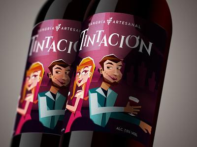 Tintación drink sangria branding packaging design label