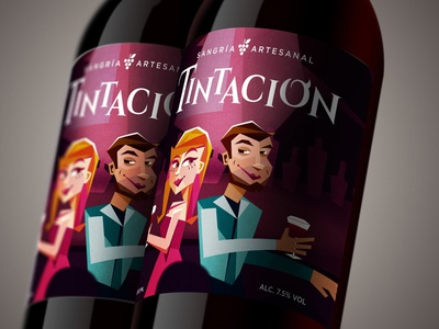 Tintación drink sangria branding packaging design label