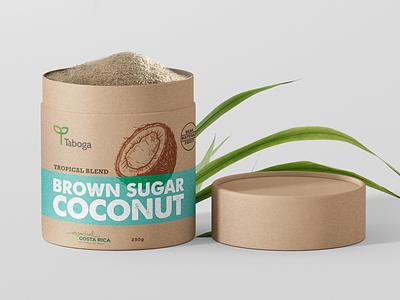 Taboga Tropical Blend Sugar label packaging costa rica blend sugarcane comodity sugar