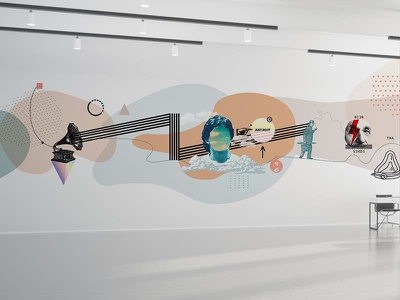 La Escuelita School in Costa Rica digital muralism art graphic design decoration wall