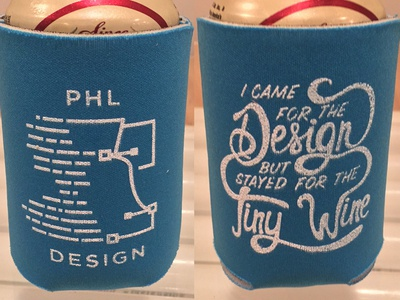 PHL Design Koozies hand drawn handmade type type type design typography screenprinting koozies