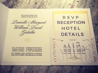 Personal Wedding Invite screenprinting wedding design wedding rsvp package design folder die cutting diecut invitation design invitation invites