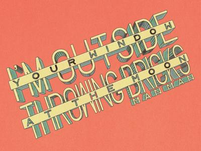 Music Monday No. 8 • Man Man - Doo Right 3d man man lyrics typography type design hand drawn handmade type type
