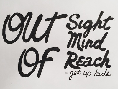 Music Monday No. 11 • The Get Up Kids - Out of Reach the get up kids lyrics typography type design hand drawn handmade type type