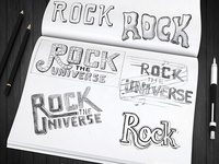 """""""Rock The Universe"""" Hand Lettering"""