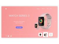 Apple smart watch website design