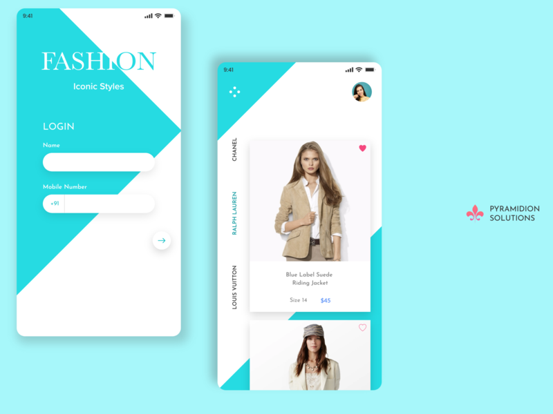 Clothing store app UI Design