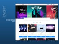 Event Booking Website Design