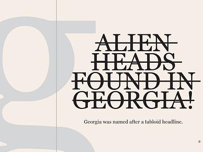 Type specimen No.3 - Georgia type georgia typography