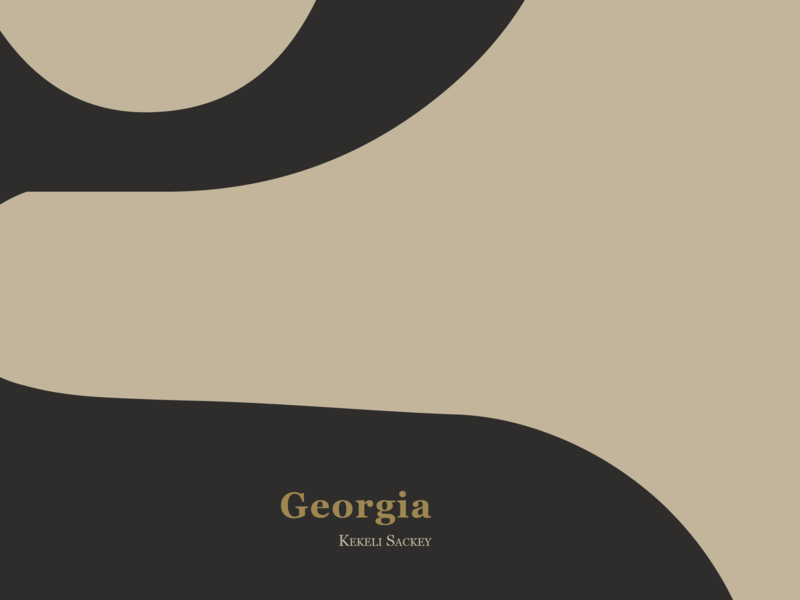 Type specimen - Georgia book cover design typography