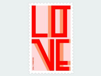 Post stamp color poststamp typography