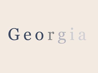 Georgia Specimen No.1 georgia typography ui