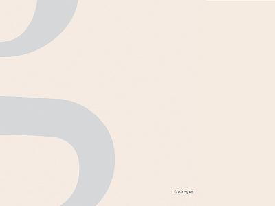 Georgia Specimen minimal design typography ui