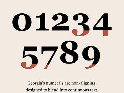 Georgia Specimen type specimen georgia typography ui