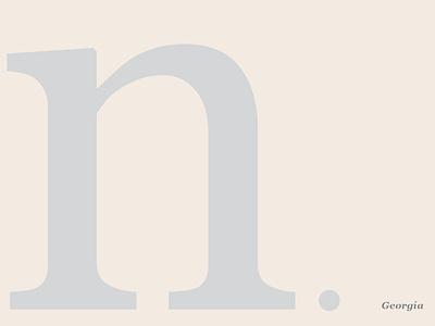 Georgia Specimen georgia minimal typography color ui