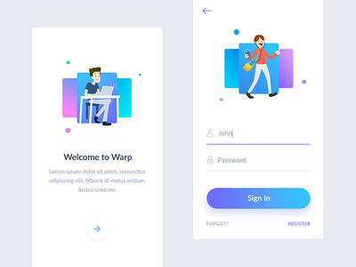 Daily Ui - Sign In social navigation minimal in sign applications expirience user ux ui app ios