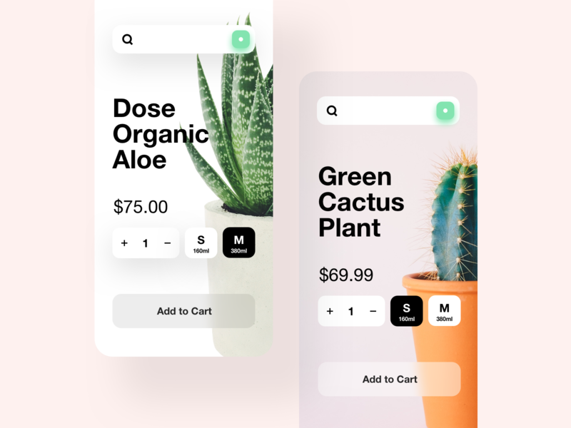 App Plants 🌱 ux interface app design clean minimal ui