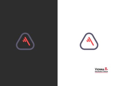vienna insurance group logo concept rebranding
