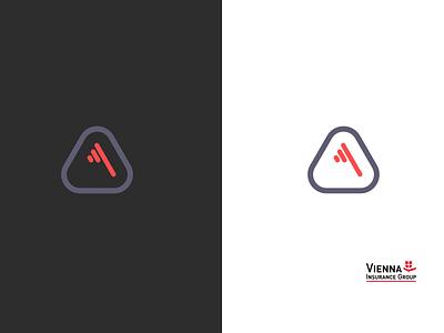 vienna insurance group logo concept rebranding icon vector mockup design typography logo flat illustration logo design branding