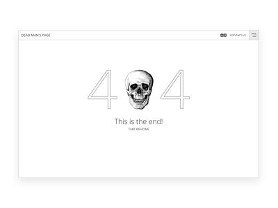 Dead man's page day of the dead dead halloween illustrator minimal ui web branding flat illustration website mockup design