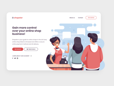 shopster landing page project