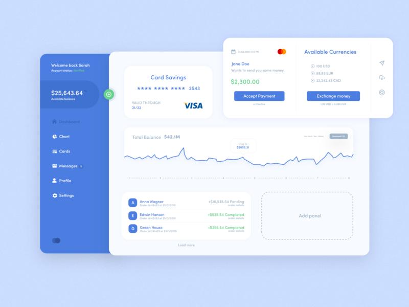 Dashboard concept design dashboard app ux design minimalist minimal web 2d flat website branding design