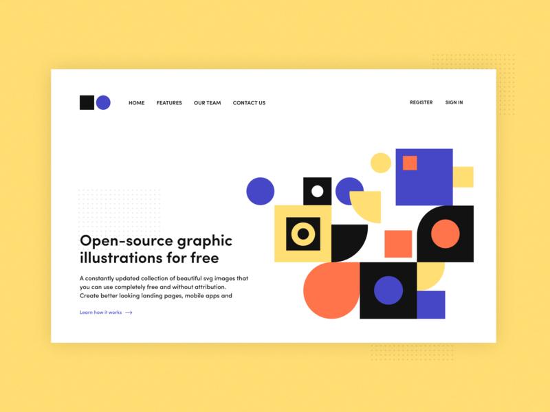 undraw concept design minimalist web ui 2d flat minimal mockup website branding design undraw