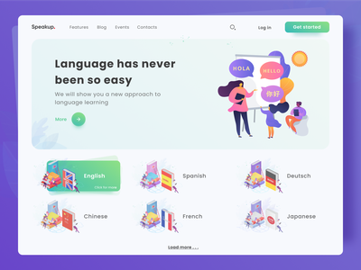 Learning language resource concept draft language learning language school concept design illustration figma 2020