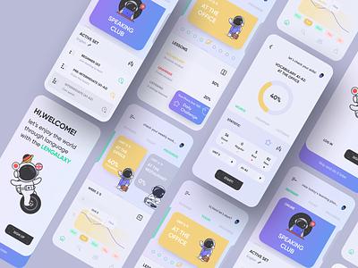 Language School App language school languages ios app concept ios design app ui ecommerce figma 2020