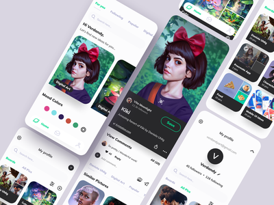 Inspiration app 2021 ios mobile mobile app figma moodboard boards mood inspiration