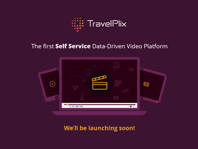 TravelPlix placeholder launching soon illustration video launch travel marketing