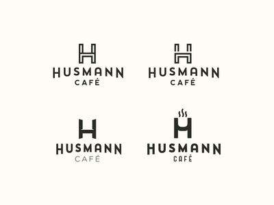 Husmann cafe concept logo meals hot recipient chair coffee cup steam norway