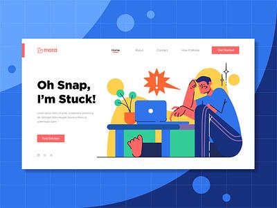 Snap! web illustrator web design landing page header error flat website ux ui header illustration illustration design