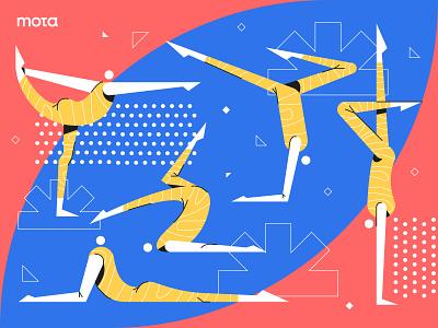Yoga Pose character design character landing page website vector people illustrator design illustration flat
