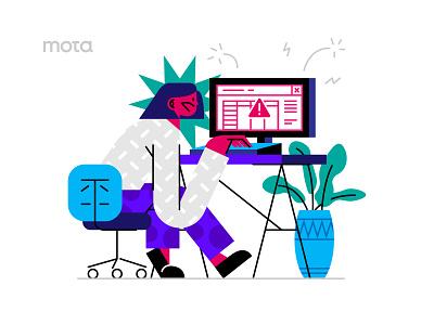 Oops! character design character website vector people ui illustrator design illustration flat