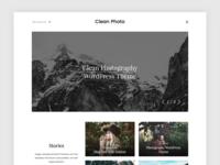 Clean Photo - WordPress Theme
