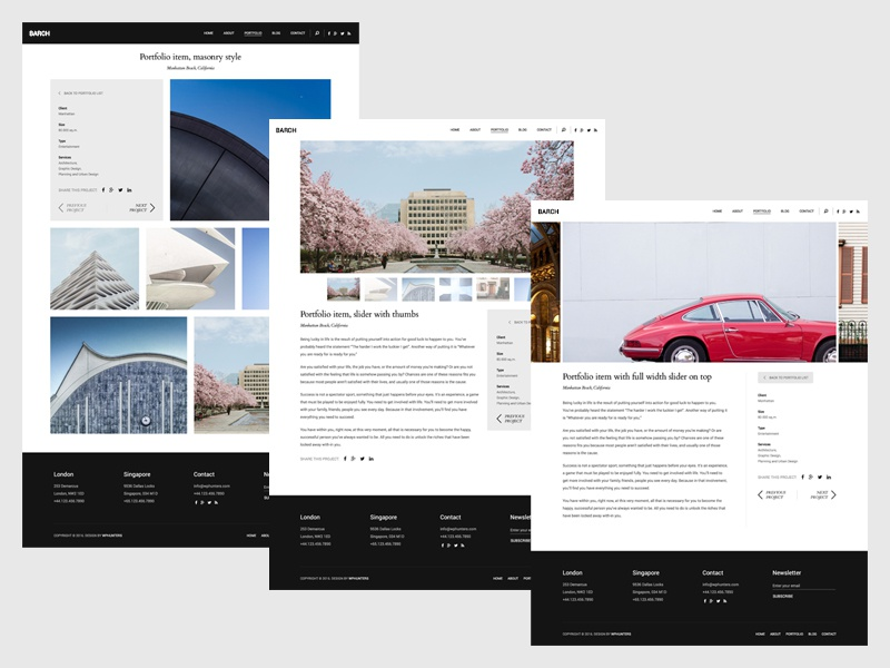 Barch - Clean Architecture & Construction WordPress Theme theme wordpress responsive clean flat minimal modern wphunters barch portfolio construction architecture