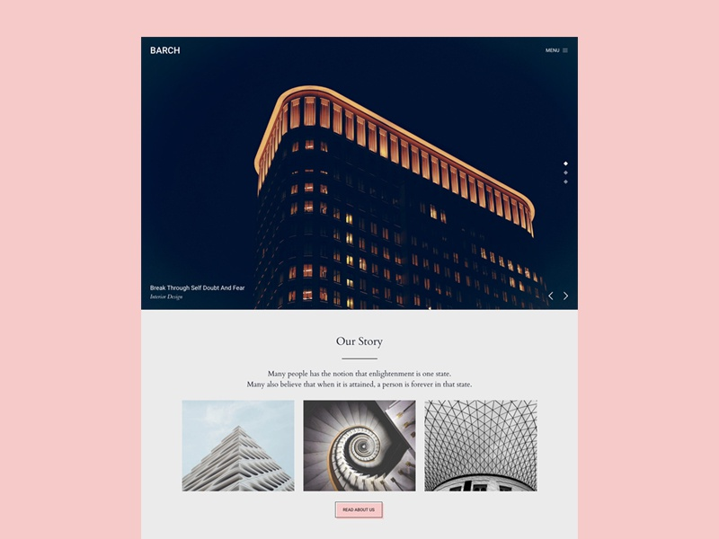 Barch - Architecture WordPress Theme portfolio news footer about slider homepage flat modern wphunters barch architecture wordpress