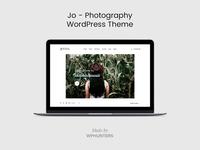 Jo - Photography WordPress Theme