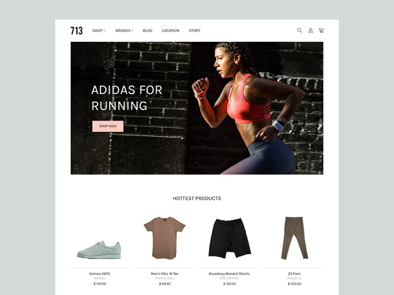 Apparel Shop typography website cart ecommerce white trendy modern flat clean minimal shop