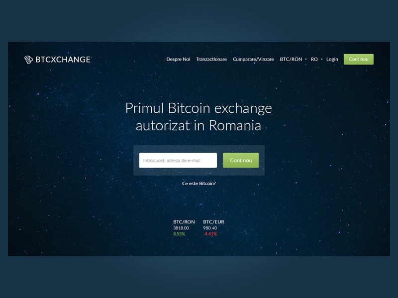 Bitcoin Exchange homepage modern call to action form header fullwidth first screen change btc exchange bitcoin