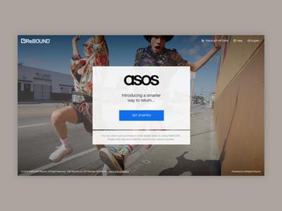 Returns Platform - Homepage v.1 gymshark clean modern mobile design responsive full-width e-commerce asos cta landing page homepage returns
