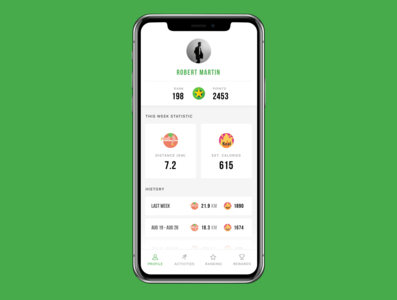 Freebie - Free Sport & Fitness iOS App Design