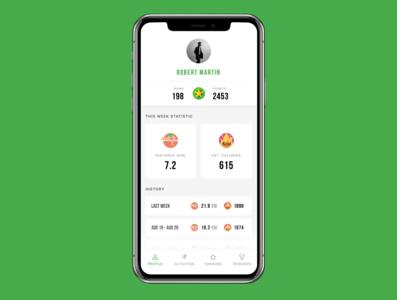 Freebie - Free Sport & Fitness iOS App Design