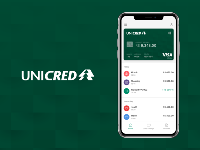 UNICRED - Credit Card App ui ux ios app design minimalist app payment app financial app ios app money app bank app banking app credit card app finance app