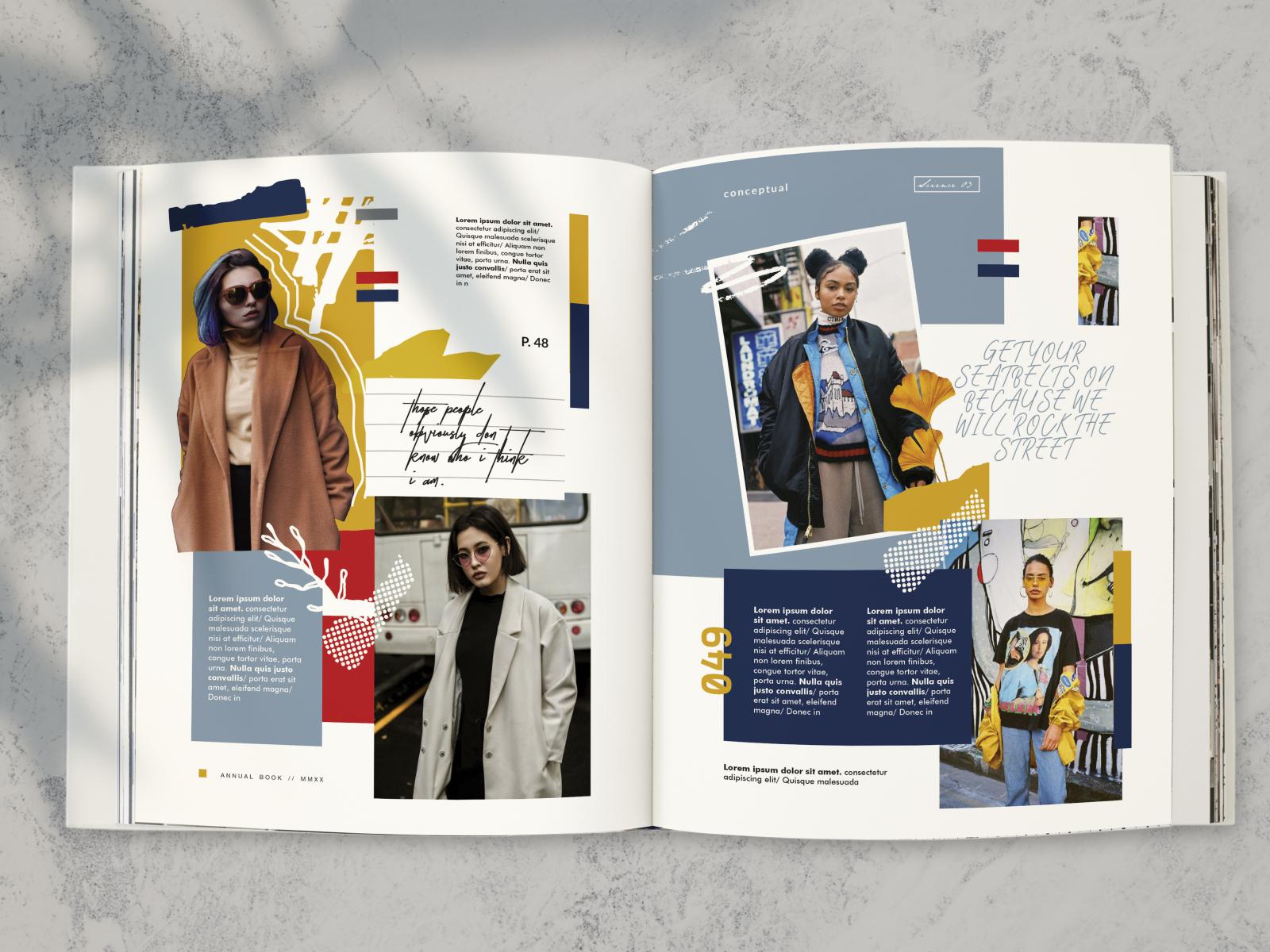 Editorial Fashion Layout By Zintha Defi On Dribbble