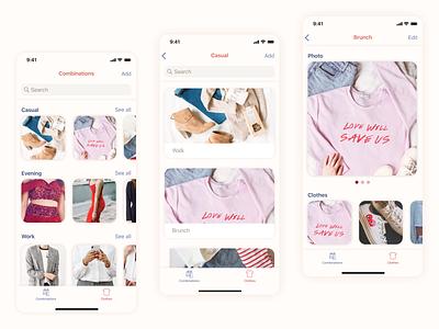 Pocket wardrobe - Mobile app concept mobile concept concept mobile design ui mobile app design mobile app mobile ui mobile app design app dribbble design