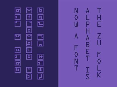 Zu Folk Alphabet typeface font design glyphs glyphsapp type design typography otf alphabet fez font type