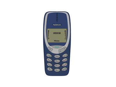 Nokia 3310 phone vector brick 90s cell cellphone 3310 nokia